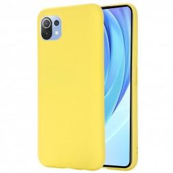 """""""Shell"""" kieto silikono (TPU) dėklas - geltonas (Mi 11 Lite)"""