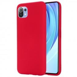 """""""Shell"""" kieto silikono (TPU) dėklas - raudonas (Mi 11 Lite)"""