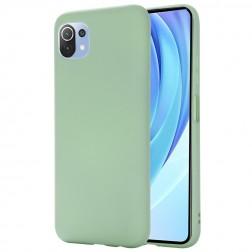 """""""Shell"""" kieto silikono (TPU) dėklas - žalias (Mi 11 Lite)"""