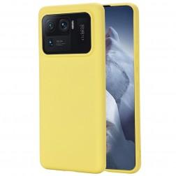 """""""Shell"""" kieto silikono (TPU) dėklas - geltonas (Mi 11 Ultra)"""