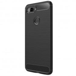 """""""Carbon"""" kieto silikono (TPU) dėklas -  juodas (Mi 8 Lite)"""