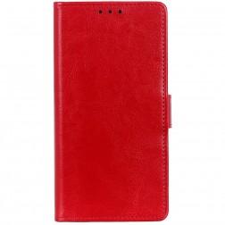 Atverčiamas dėklas, knygutė - raudonas (Mi 9 Lite)