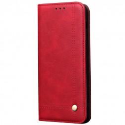"""""""Deluxe"""" atverčiamas dėklas - raudonas (Mi Note 10 Lite)"""