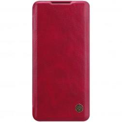 """""""Nillkin"""" Qin atverčiamas dėklas - raudonas (Mi Note 10 Lite)"""