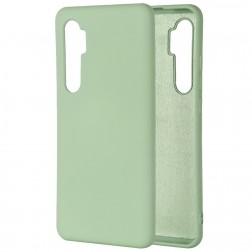 """""""Shell"""" kieto silikono (TPU) dėklas - žalias (Mi Note 10 Lite)"""