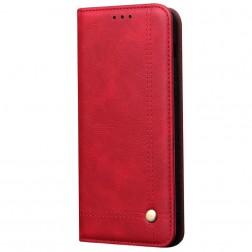 """""""Deluxe"""" atverčiamas dėklas - raudonas (Mi Note 10 / 10 Pro)"""
