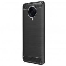 """""""Carbon"""" kieto silikono (TPU) dėklas - juodas (Poco F2 Pro)"""