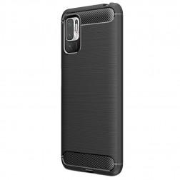 """""""Carbon"""" kieto silikono (TPU) dėklas - juodas (Poco M3 Pro / Redmi Note 10 5G)"""