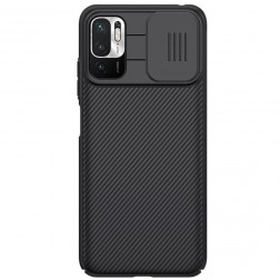 """Nillkin"" CamShield dėklas - juodas (Poco M3 Pro / Redmi Note 10 5G)"