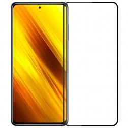 """""""Mofi"""" Tempered Glass apsauginis ekrano stiklas 0.26 mm - juodas (Poco X3)"""