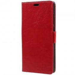 Atverčiamas dėklas, knygutė - raudonas (Redmi 5 Plus)