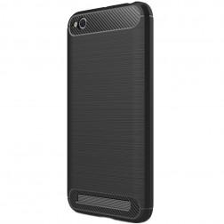 """""""Carbon"""" kieto silikono (TPU) dėklas - juodas (Redmi 5A)"""