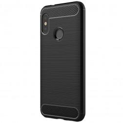 """""""Carbon"""" kieto silikono (TPU) dėklas - juodas (Redmi 6 Pro)"""