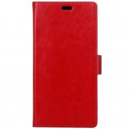 Atverčiamas dėklas, knygutė - raudonas (Redmi 6 Pro)