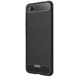 """""""Carbon"""" kieto silikono (TPU) dėklas - juodas (Redmi 6A)"""