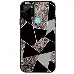 """""""Fashion"""" Marble kieto silikono (TPU) dėklas - juodas (Redmi 9C)"""