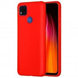 """""""Shell"""" kieto silikono (TPU) dėklas - raudonas (Redmi 9C)"""