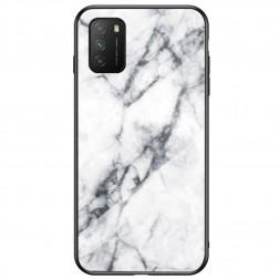 """""""Marble"""" kieto silikono (TPU) dėklas - baltas (Redmi 9T 5G)"""