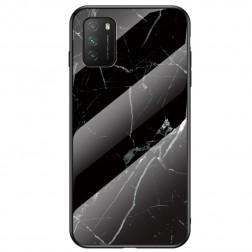 """""""Marble"""" kieto silikono (TPU) dėklas - juodas (Redmi 9T 5G)"""