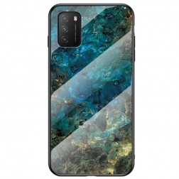 """Marble"" kieto silikono (TPU) dėklas - mėlynas (Redmi 9T 5G)"