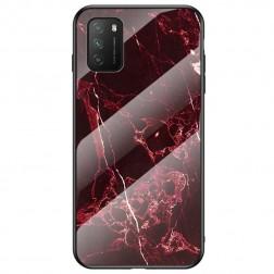 """""""Marble"""" kieto silikono (TPU) dėklas - raudonas (Redmi 9T 5G)"""