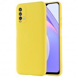 """""""Shell"""" kieto silikono (TPU) dėklas - geltonas (Redmi 9T 5G)"""