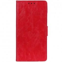 Atverčiamas dėklas, knygutė - raudonas (Redmi Go)
