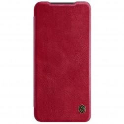 """""""Nillkin"""" Qin atverčiamas dėklas - raudonas (Redmi Note 10S / Note 10 4G)"""