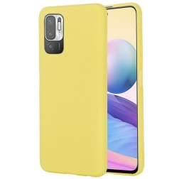 """""""Shell"""" kieto silikono (TPU) dėklas - geltonas (Poco M3 Pro / Redmi Note 10 5G)"""
