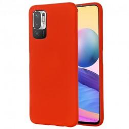 """""""Shell"""" kieto silikono (TPU) dėklas - raudonas (Poco M3 Pro / Redmi Note 10 5G)"""
