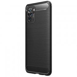 """""""Carbon"""" kieto silikono (TPU) dėklas - juodas (Redmi Note 10S / Note 10 4G)"""