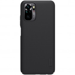 """Nillkin"" Frosted Shield dėklas - juodas (Redmi Note 10S / Note 10 4G)"