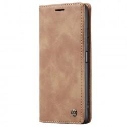 """""""CaseMe"""" Retro solidus atverčiamas dėklas - šviesiai rudas (Redmi Note 10 Pro)"""