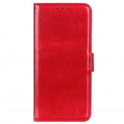 Atverčiamas dėklas, knygutė - raudonas (Redmi Note 10 Pro)