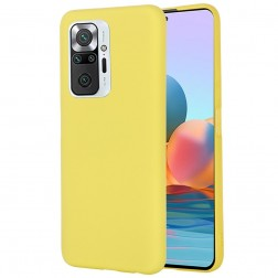 """""""Shell"""" kieto silikono (TPU) dėklas - geltonas (Redmi Note 10 Pro)"""
