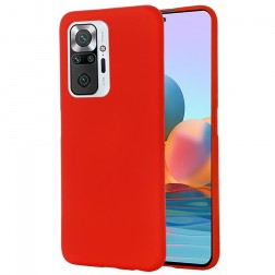 """""""Shell"""" kieto silikono (TPU) dėklas - raudonas (Redmi Note 10 Pro)"""