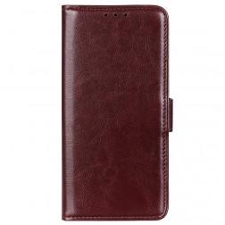 Atverčiamas dėklas, knygutė - rudas (Poco M3 Pro / Redmi Note 10 5G)