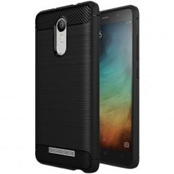 """""""Carbon"""" kieto silikono (TPU) dėklas - juodas (Redmi Note 3 / Redmi Note 3 Pro)"""