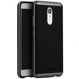 """""""IPAKY"""" kieto silikono (TPU) dėklas - juodas / pilkas (Redmi Note 3 / Redmi Note 3 Pro)"""