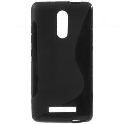 Kieto silikono (TPU) dėklas - juodas (Redmi Note 3 / Redmi Note 3 Pro)