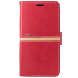 Atverčiamas dėklas, knygutė - raudonas (Redmi Note 3 / Redmi Note 3 Pro)
