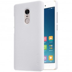 """""""Nillkin"""" Frosted Shield dėklas - baltas + apsauginė ekrano plėvelė (Redmi Note 4X)"""