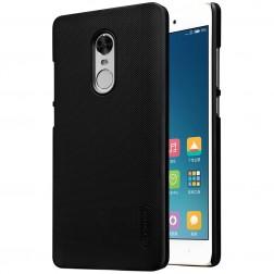 """""""Nillkin"""" Frosted Shield dėklas - juodas + apsauginė ekrano plėvelė (Redmi Note 4X)"""