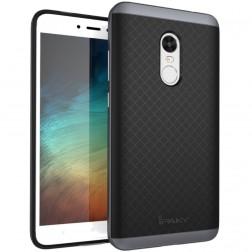 """""""IPAKY"""" kieto silikono (TPU) dėklas - juodas / pilkas (Redmi Note 4X)"""