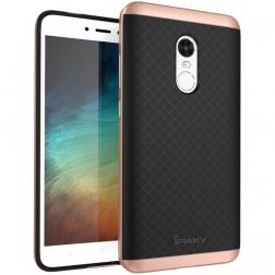 """""""IPAKY"""" kieto silikono (TPU) dėklas - juodas / rožinis (Redmi Note 4X)"""