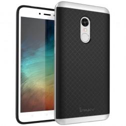"""""""IPAKY"""" kieto silikono (TPU) dėklas - juodas / sidabrinis (Redmi Note 4X)"""