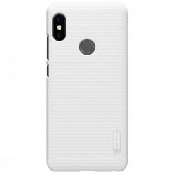 """""""Nillkin"""" Frosted Shield dėklas - baltas + apsauginė ekrano plėvelė (Redmi Note 5 2018)"""
