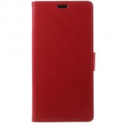 Atverčiamas dėklas, knygutė - raudonas (Redmi Note 5 2018)