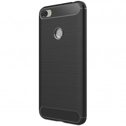 """""""Carbon"""" kieto silikono (TPU) dėklas - juodas (Redmi Note 5A)"""