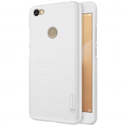 """""""Nillkin"""" Frosted Shield dėklas - baltas + apsauginė ekrano plėvelė (Redmi Note 5A)"""